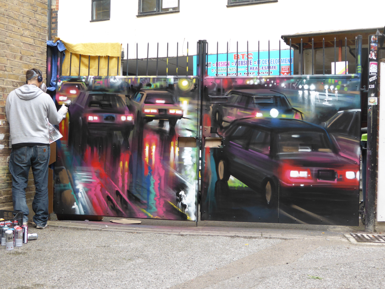 new dan kitchener street art in brick lane london calling blog