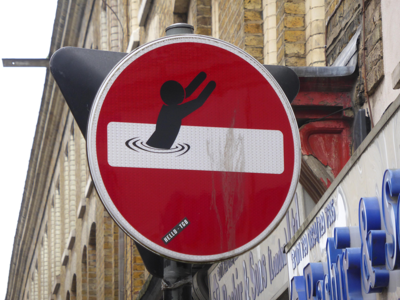 new clet abraham street art around london london calling