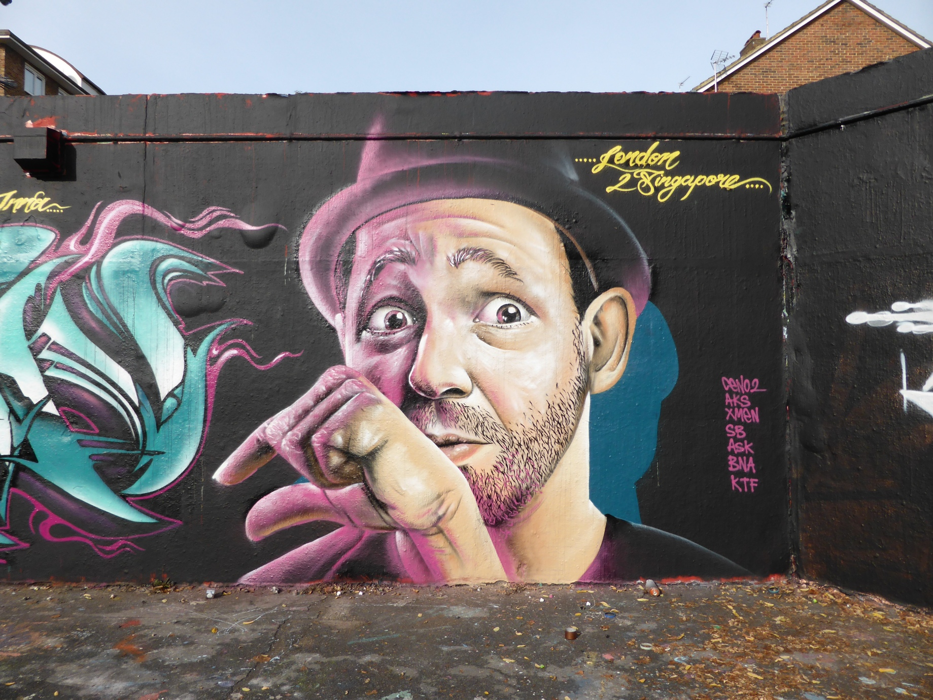 Grafitti fine art 2015 - Singaporean Graffiti Fine Artist Ceno2 Hits London