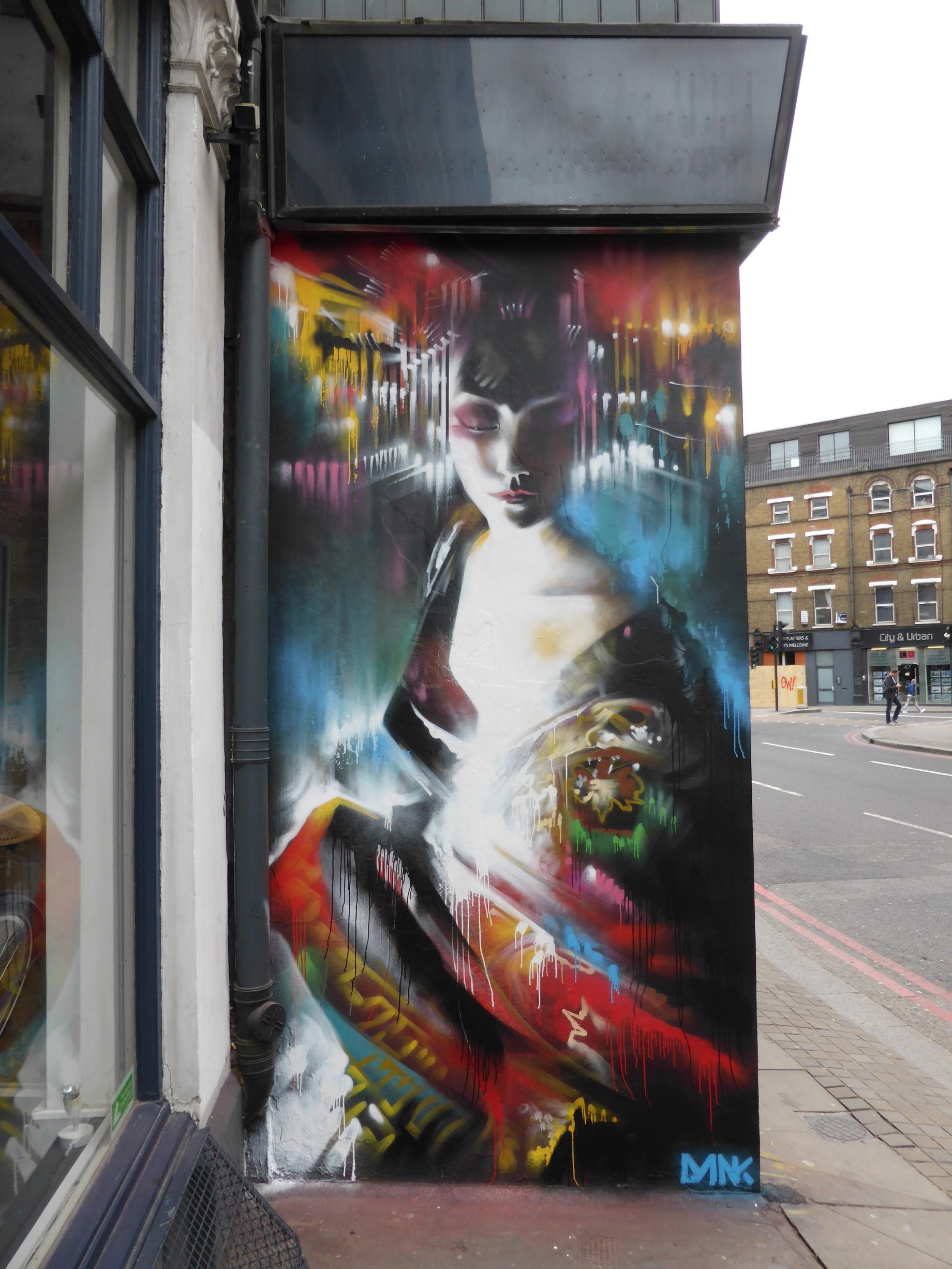 new dan kitchener street art butterfly in shoreditch london