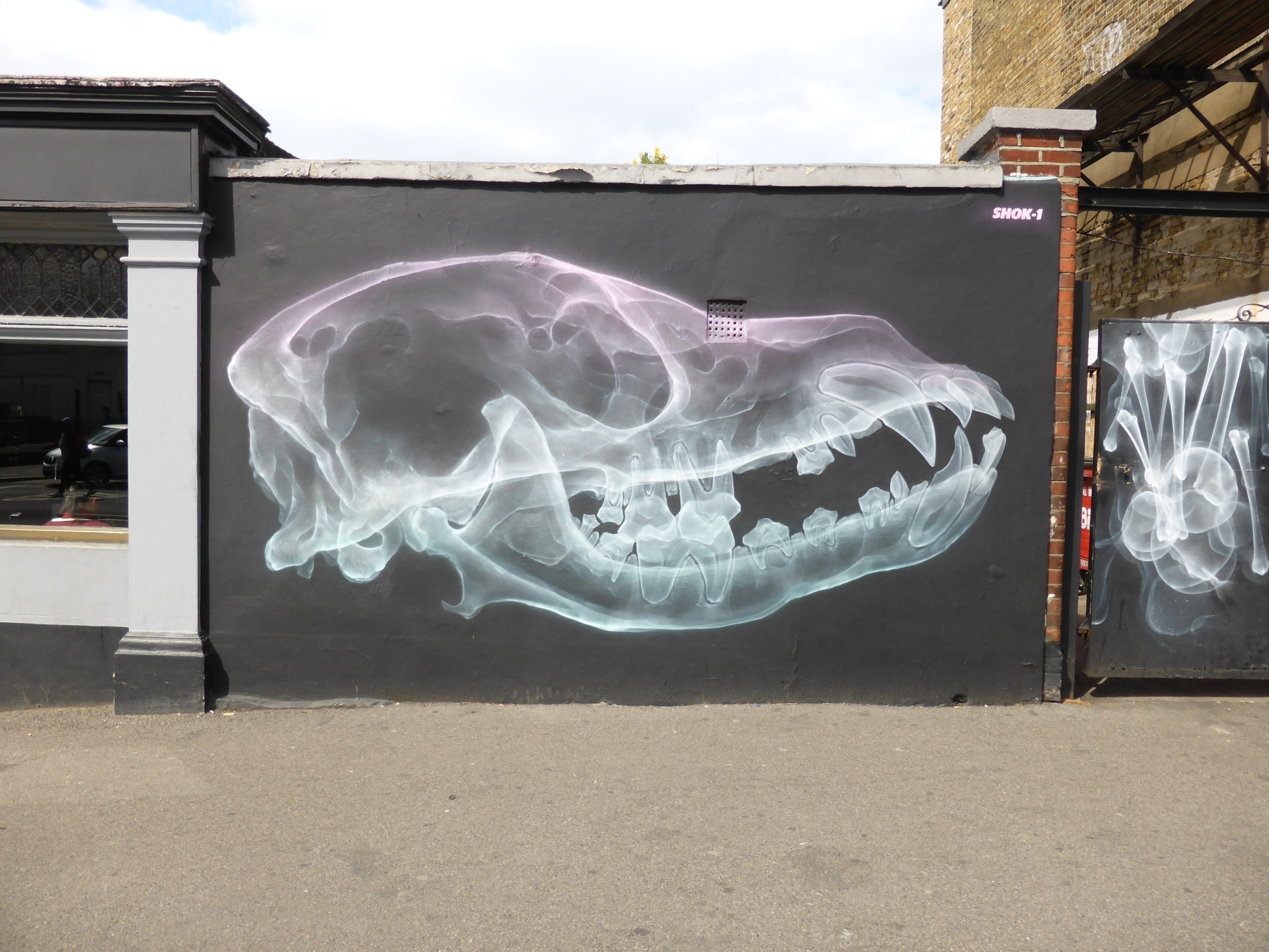 New shok 1 street art dead dogs in walthamstow for paint your london