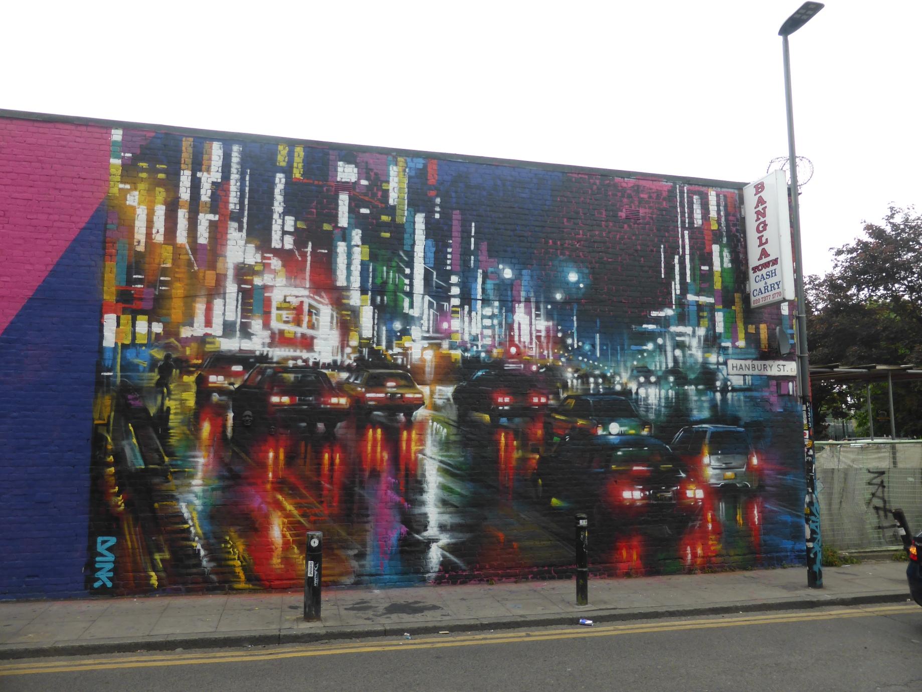 new dan kitchener street art london rush in brick lane london
