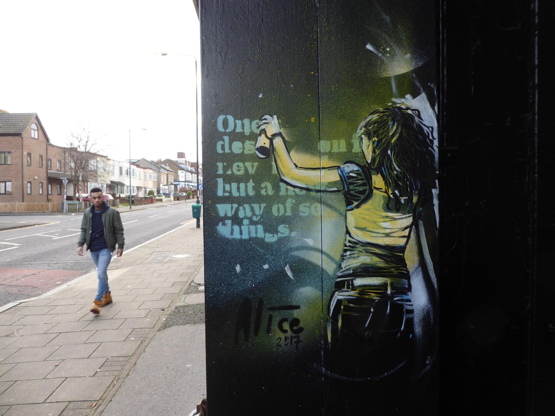 New alice pasquini street art around london 2018