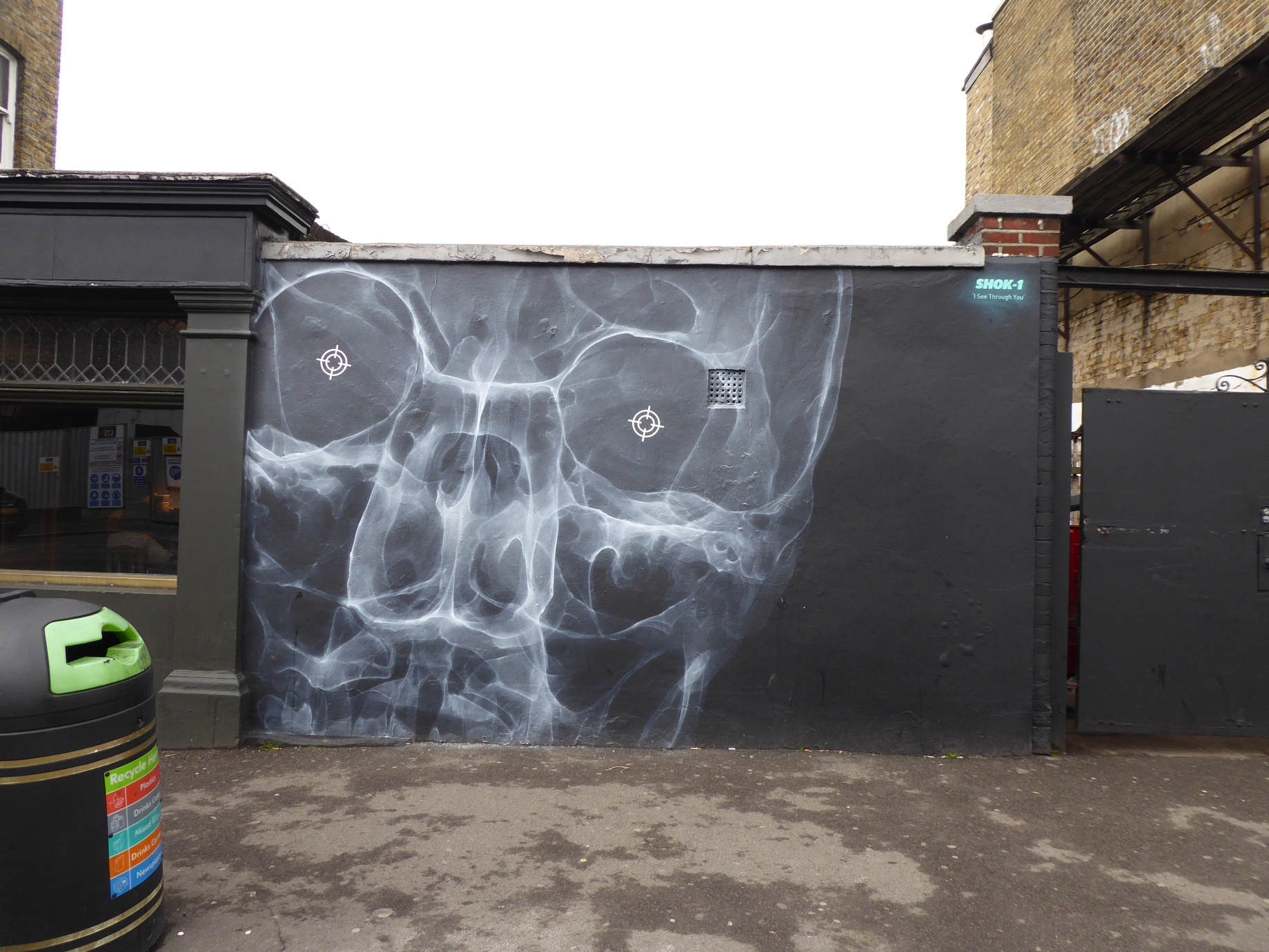New shok 1 street art see through you in walthamstow